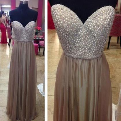 Long prom dress, sweet heart prom d..