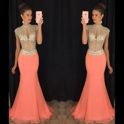 Long prom dress, gorgeous prom dres..