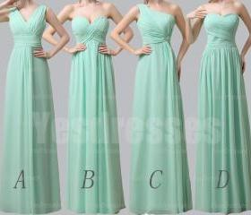 Mint bridesmaid dres..