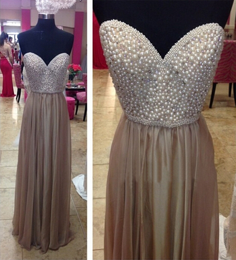 Long prom dress, sweet heart prom dress, beading prom dress, elegant prom dress, popular prom dress, modest prom dress, formal prom dress, evening dress, PD13055