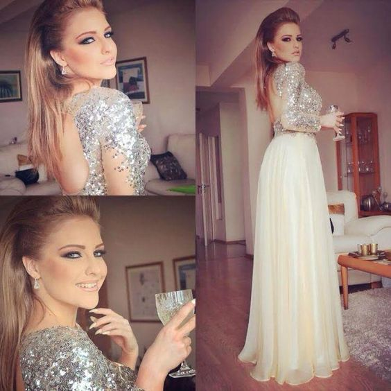 Long prom dress, backless prom dress, sequin prom dress, sexy prom dress, formal prom dress, long sleeve prom dress, sparkly prom dress, party dress, PD125147