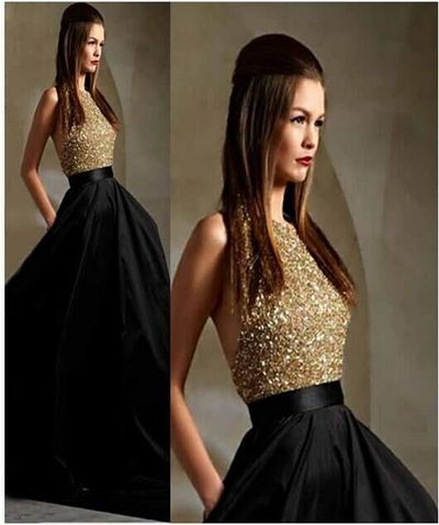Black Prom Dress, Elegant Prom Dress, Long Prom Dress, Sleeveless ...