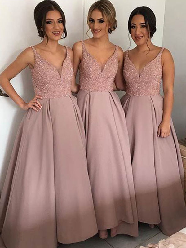 Long Bridesmaid Dress, Gorgeous Bridesmaid Dress, Off Shoulder V ...