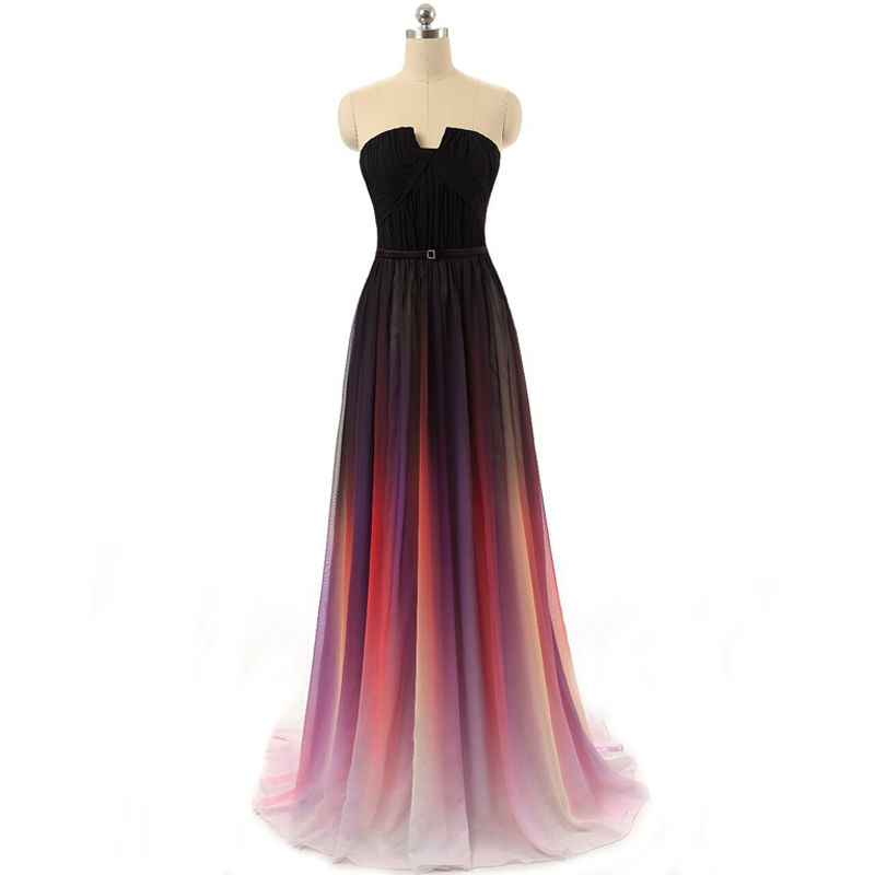 Gradient Prom Dresses, Long Prom Dresses, Unique Prom Dresses ...