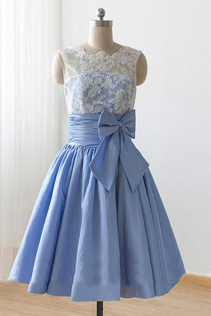 Lace bridesmaid dresses, short bridesmaid dress, junior bridesmaid dresses, cheap prom dress, bridesmaid dress, knee-length bridesmaid dress, PD15493