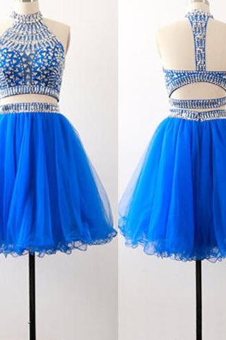 Blue homecoming dress, open back homecoming dress, junior homecoming dress, backless homecoming dress, pretty homecoming dress, PD15289