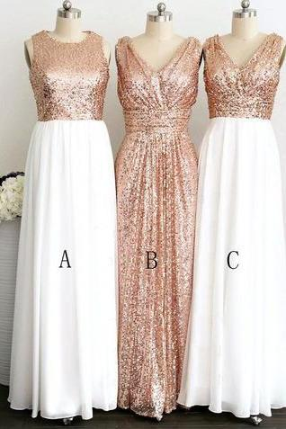 long bridesmaid dress, mismatched bridesmaid dress, sequin bridesmaid dress, 2015 bridesmaid dress, popular bridesmaid dress, PD15441