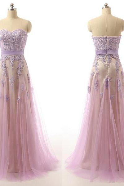 Long prom dress, sweet heart prom dress, lace prom dress, cheap prom dress, tulle prom dress, formal prom dress, inexpensive prom dress, modest prom dress, PD13084