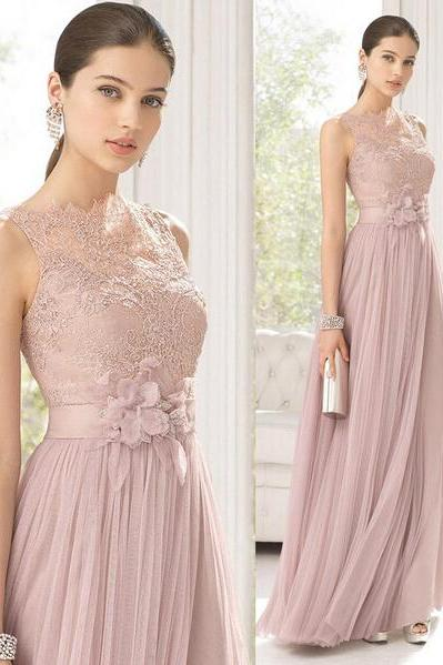 long bridesmaid dress, lace bridesmaid dress, tulle bridesmaid dress, dress for wedding, on sale prom dress, wedding party dress, BD1851