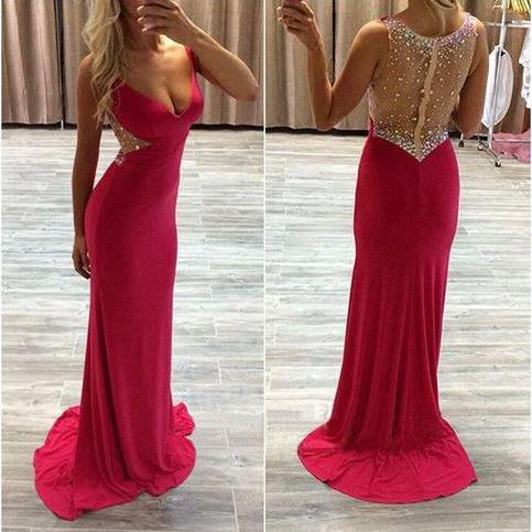 Long prom dress, red prom dress, off shoulder prom dress, modest prom dress, popular prom dress, elegant prom dress, formal prom dress, evening dress, PD13051
