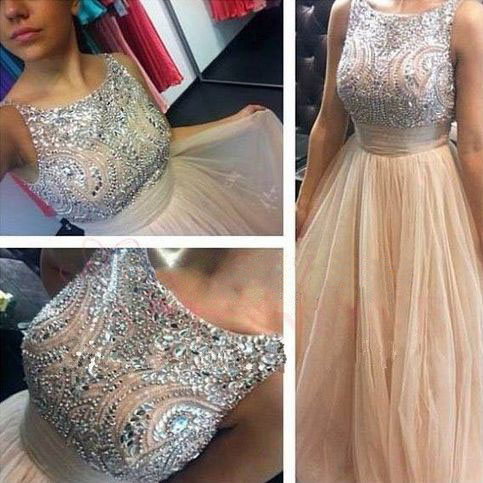 Long prom dress, champagne prom dress, off shoulder prom dress, scoop neck prom dress, popular prom dress, elegant prom dress, formal prom dress, evening dress, PD13052
