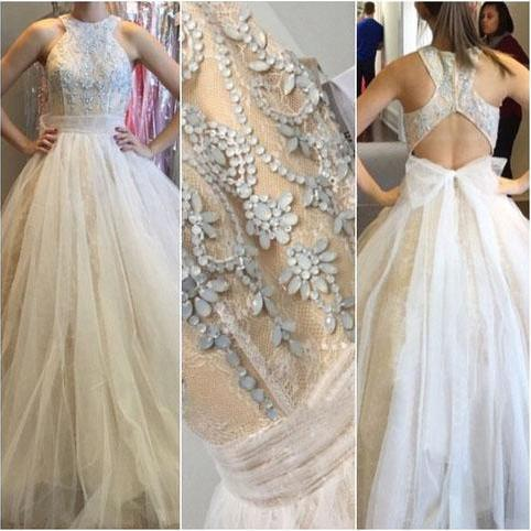 Long prom dress, new design prom dress, open back prom dress, tulle prom dress, popular prom dress, elegant prom dress, formal prom dress, evening dress, PD13053
