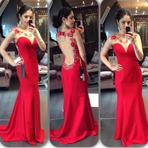 Long prom dress, red prom dress, see through back prom dress, sexy prom dress, formal prom dress, inexpensive prom dress, unique prom dress, party dress, PD125146