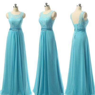 Turquoise bridesmaid dresses, lace bridesmaid dresses, lace up back bridesmaid dresses, cheap bridesmaid dresses, chiffon bridesmaid dress, long bridesmaid dress, 20393